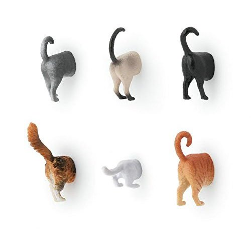 Kikkerland Cat Butt Magnets